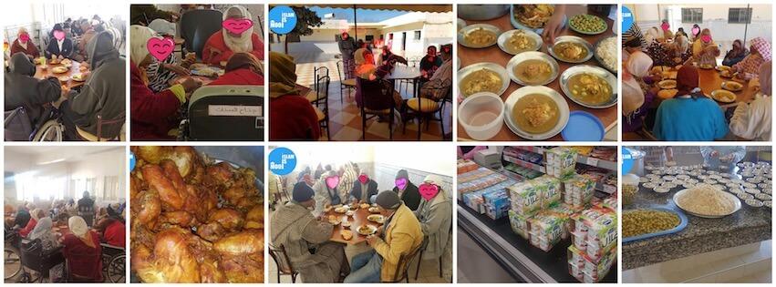 Lekker gegeten met de bejaarden in Meknes