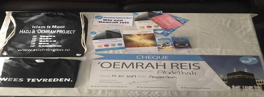 Abdelhak is de winnaar van een gratis 'Oemrah reis!